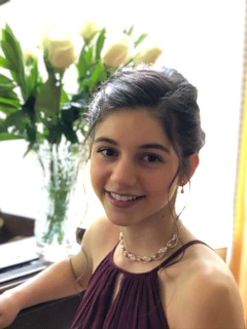 High School Student Marina Varriano: